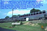 The Auto Train bi-level Superliner cars