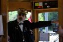 Talkative driver on the Portland Vintage Trolley.