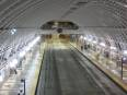 Vaulted ceiling of Downtown Seattle Transit Tunnel is reminiscent of Washington, DC Metro stations.